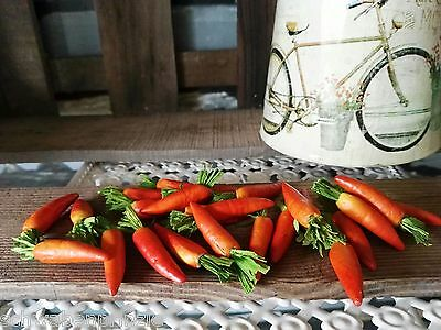 24 x Möhren Karotten Deko 4 cm Obst Attrappen Dekoration Gemüse Kunstgemüse 5