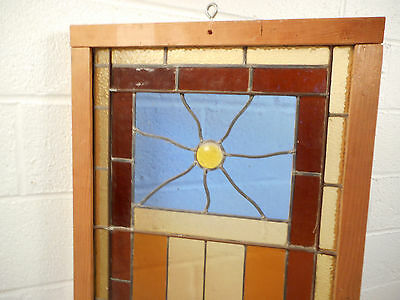 Vintage Stained Glass Window Panel (3068)NJ 6