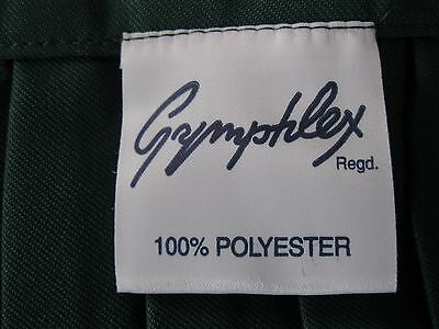 "GYMPHLEX Girls/Ladies BOTTLE GREEN School Gym Kilt/Skirt W34"" 16+ yrs- NEW! 5"
