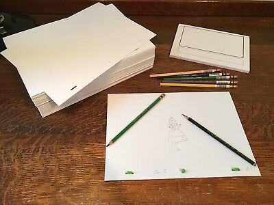 Animation Paper Bundle - 1000 punched A4 Sheets, Storyboard Pad, Pegbar, Pencils 6