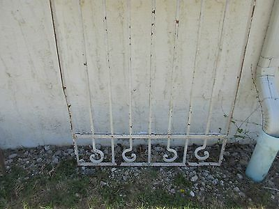 Antique Victorian Iron Gate Window Garden Fence Architectural Salvage Door #378 4
