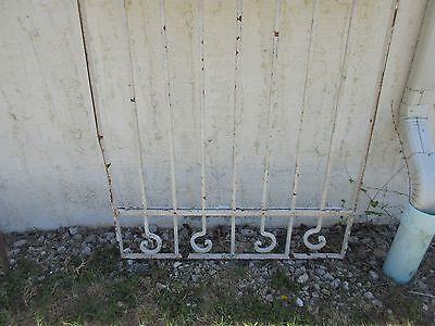 Antique Victorian Iron Gate Window Garden Fence Architectural Salvage Door #378 4