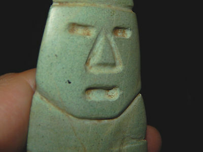 Pre-Columbian Large Anthropomorphic Axe God Celt, Central America, Authentic 8