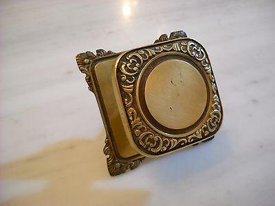 Vintage Greece solid brass large door knob handle D8 5