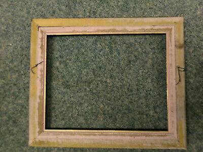 """3212M Vtg 16x20 ORNATE Frame Gold/BLACK VELVET 2 3/4"""" Border EXC COND !! 8"""