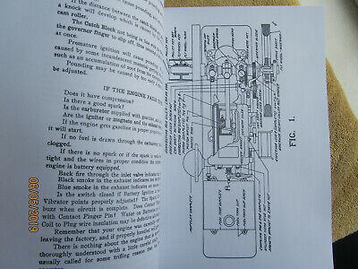 Alamo Engine Co. 1 1/2HP Gas Engine Instruction & Parts  Manual 2