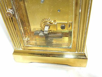 MAPPIN & WEBB Brass Carriage Mantel Clock Timepiece with Key  Working Order (54) 12
