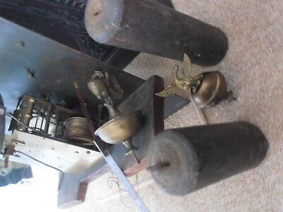 Antique 8 Day Brass Arch Dial Oak Grandfather Longcase Clock ALEX GORDON DUBLIN 7