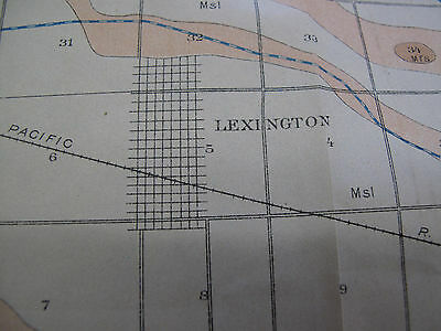 Folded Color Soil Survey Map Lexington Sheet Nebraska Overton Cozad NE 1904 2