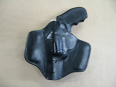 KIMBER K6S REVOLVER 2 CLip IWB Leather Concealed Carry Holster CCW BLACK RH