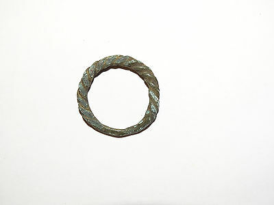 Goodly Twisted  bronze  Viking finger ring . ca 800-1000 AD. Kievan Rus. Viking. 3