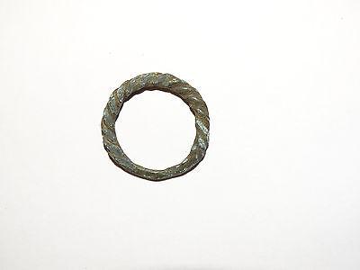 Goodly Twisted  bronze  Viking finger ring . ca 800-1000 AD. Kievan Rus. Viking. 3
