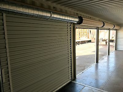 Shipping Container Portable Storage building with four roll up doors 10