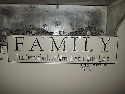 Love Laugh With Wood Sign Country Rustic Decor FAMILY The Ones You Live With