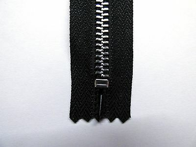 Zip Closed End Metal YKK Black 6 Extra Heavyweight,10w 15inches Zipper 12