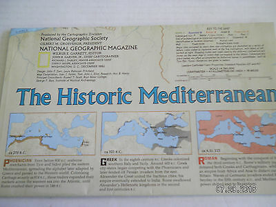 "3  Maps From  National Geographic Society.""Celtic, Mediterranean, Crucible"" 2"