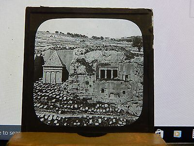 Antique Glass Slide Ancient Graves In The Holy Land  Magic Lantern 3