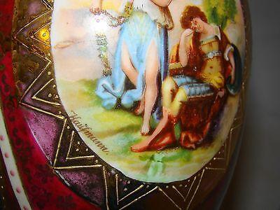 Vienna Cabinet Urn Vase after Angelica Kaufmann Blue Royal Vienna Style Beehive 4