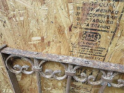 Antique Victorian Iron Gate Window Garden Fence Architectural Salvage Guard J 5