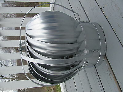 "Quality Wind Turbine Cooling Fan Roof Mount NOS Wisper Cool Made in USA 12"" V 3"