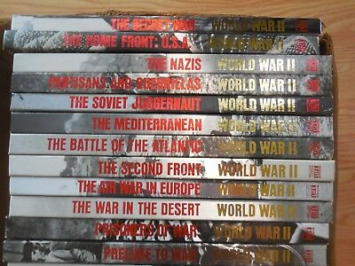 Lot Of 26 Hardcover Vintage Time Life Books World War II WW2 Collectible 1980's 4