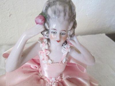 Demi Poupee Marquise Habillee Tee Puppee Half Doll Porcelaine Deutschland