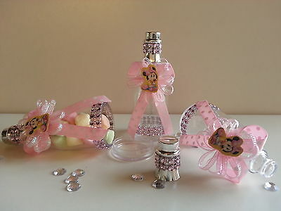 1 Of 12 12 Pink Minnie Mouse Fillable Champagne Bottles Baby Shower Favors  Girl Birthday