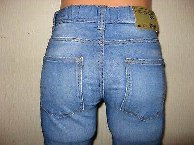 Worn Once Boys Pale Blue Next Skinny Stretch Jeans & Checked Shirt Bundle Age 12 9