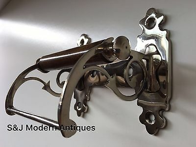 Unusual Toilet Roll Holder Chrome Novelty Vintage Victorian Silver Shabby Chic 8
