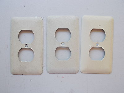 Vintage Metal Switch Outlet Cover Plates, Huge Lot, Togge, Duplex *FREE SHIP*