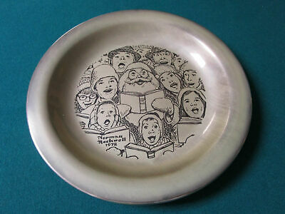"""Sterling 925 PLATES NORMAN ROCKWELL CHRISTMAS FRANKLIN MINT 8"""" -1971/75 - PICK 1 6"""