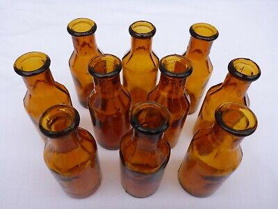 5 x alte braune Medizin Glas Apotheke Apotheker Flasche 20 ml ca. 7,5 cm braun 3