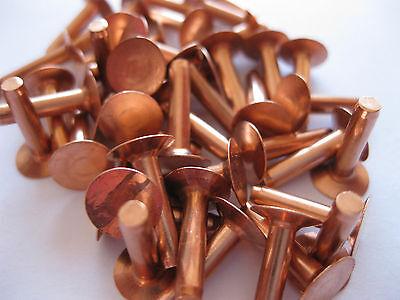 Copper hose saddlers rivets 10 Gauge x 1/2 with washers leather belt bag crafts 2