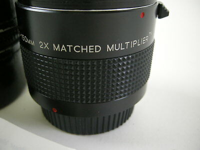 Vivitar MC 70-150mm 2x Matched Multiplier Pentax PK Mt. 2