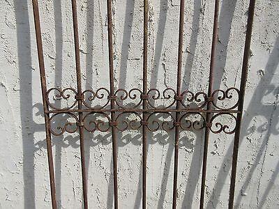 Antique Victorian Iron Gate Window Garden Fence Architectural Salvage Door #353 3