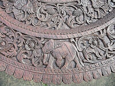 Large Beautifully Carved Antique S.e.asian  Padouk Side Table 7