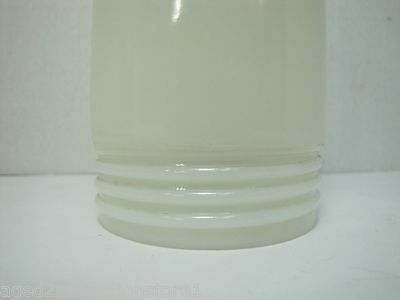 Old White Milk Glass Industrial Explosion Proof Colored Light Lamp Shade screwon 3