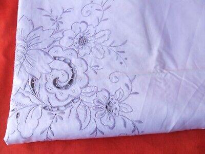 Mantel Antigua Colada de Mesa Antiguo Mobiliario Bordado Decoración Flores 2