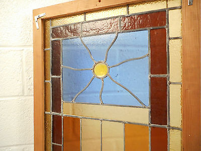 Vintage Stained Glass Window Panel (3068)NJ 3
