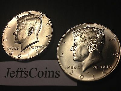 2016 P&D Kennedy Half Dollars Kenedy PD MINT ROLL Clad 50¢ 2 Uncirculated Coins 3