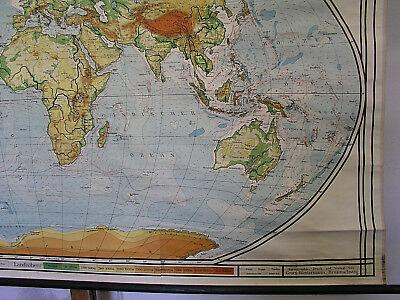 Schulwandkarte schöne alte Weltkarte Erdkarte 213x118cm vintage map von 1941 gut 5