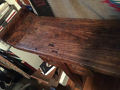 Magnificent Rare 1800's Wood Plank Chinese Altar Table 3