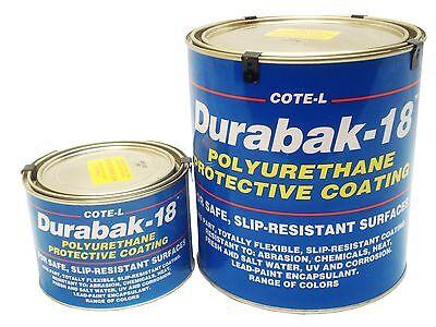 Durabak18 Textured-Qt-Non Slip Coating Construction-CREAM Bedliner Boat Deck