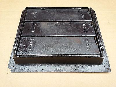 Vintage VICTORIAN Cast Iron Floor Grille 11+x10 Heat Grate Register + Louvers 5
