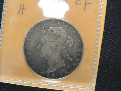 1881 H 50 Cent Coin Canada Victoria Fifty Cents .925 Silver EF Grade 7