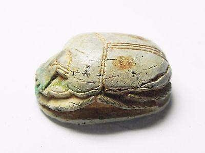 Zurqieh -Tat118-  Ancient Egypt, Huge New Kingdom. Stone Scarab 1400 B.c 4