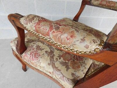Quality Vintage French Louis XV Style Fireside Accent Arm Chairs  - a Pair 4