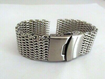 bracciale mesh shark massiccio orologi acciaio maglia milano silver ansa 20 mm 6