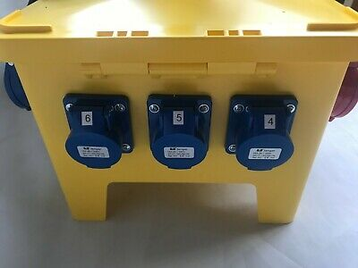 63A-32A Portable distribution board,power box,stage,event distro,3phase splitter 7
