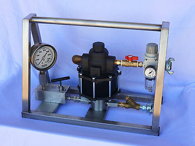 HYDROSTATIC TEST PUMP - Portable - Air Operated - High Pressure - 10,000 PSI